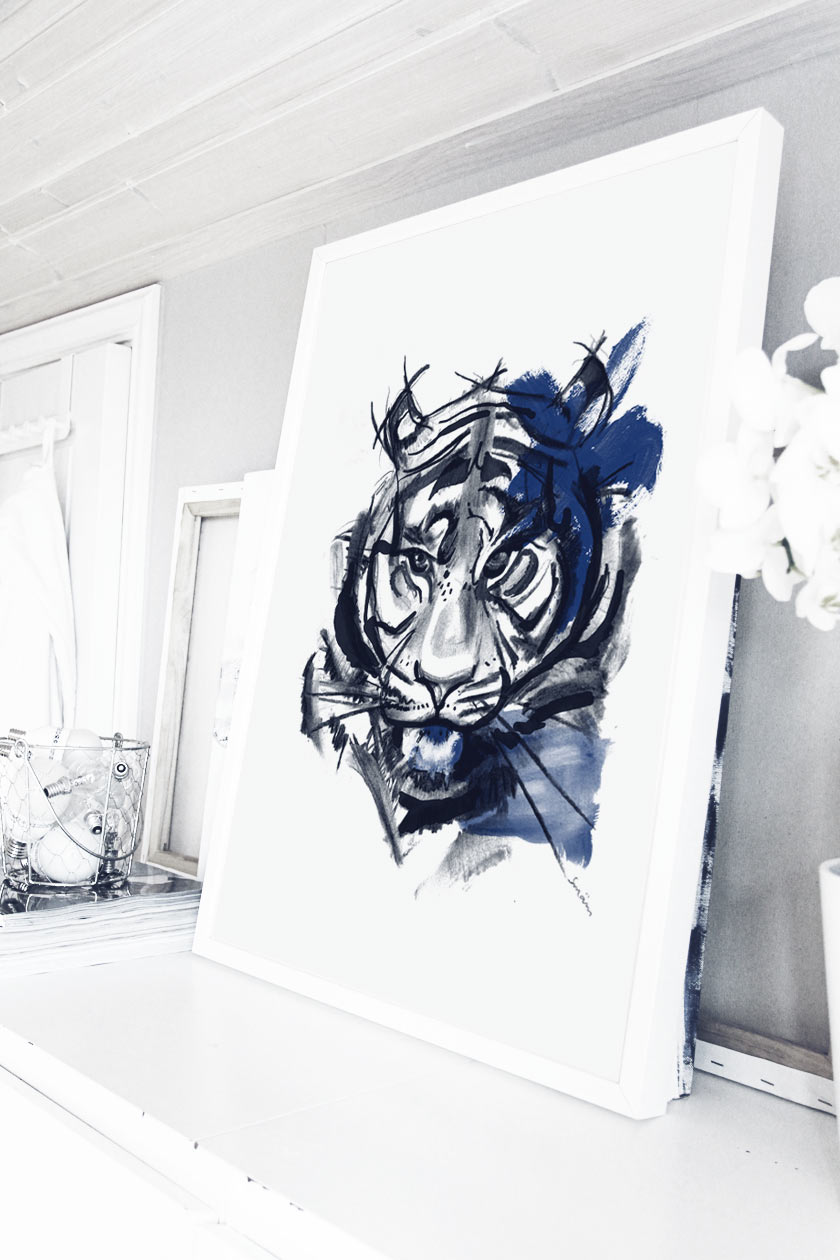 Blue_Tiger_Framed_01