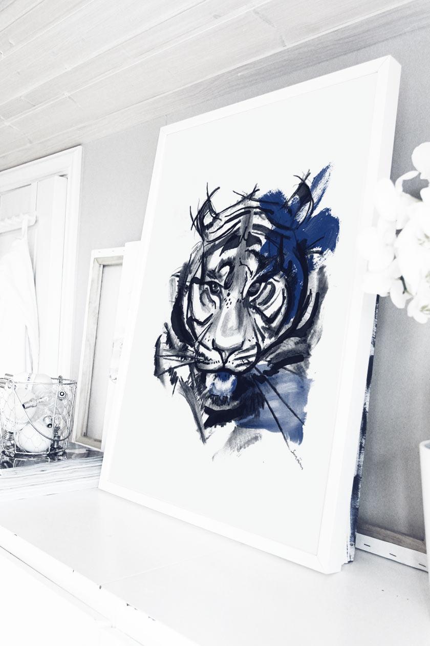 Blue_Tiger_Framed_01