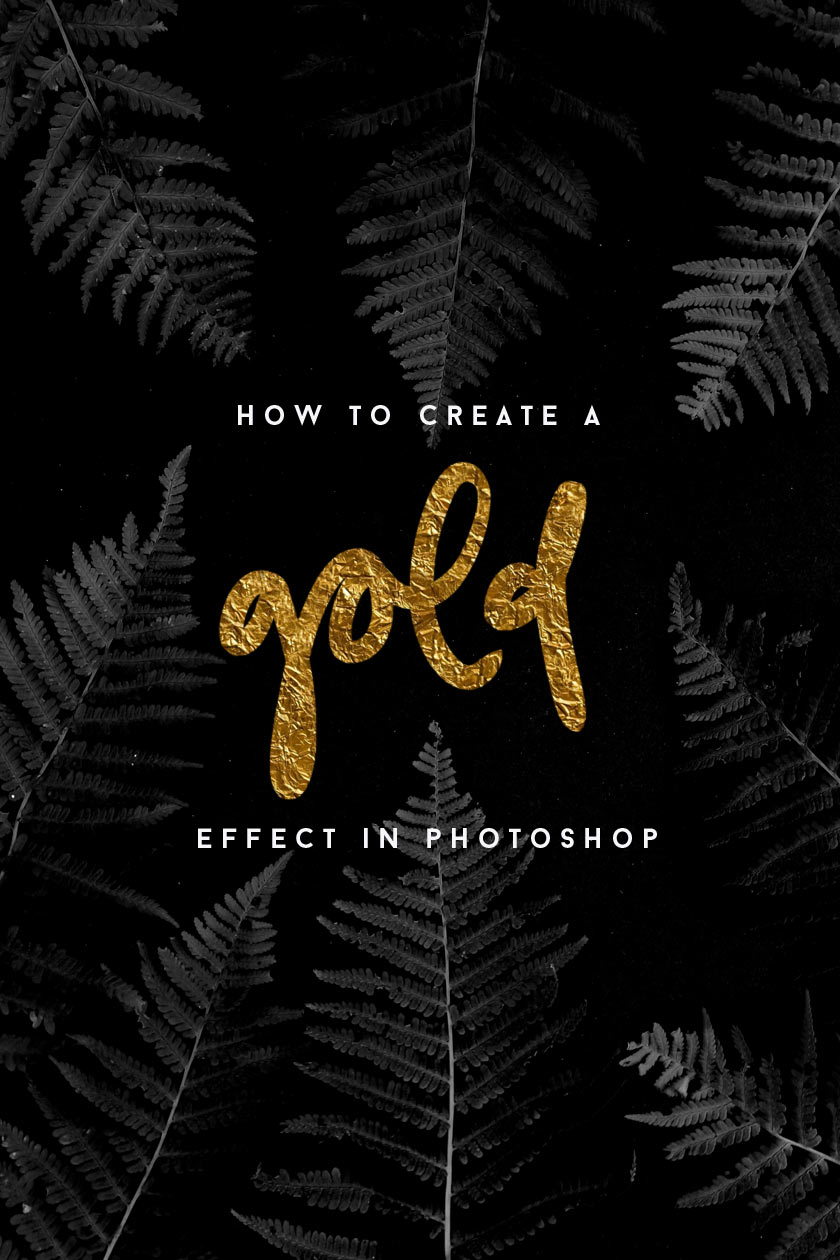 How_To_Create_A_Gold_Effect_In_Photoshop_01