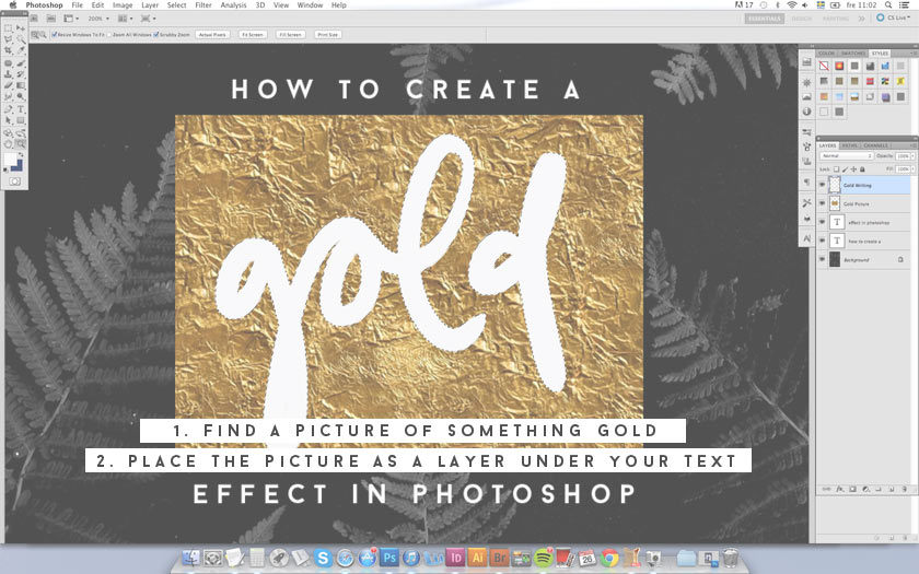 How_To_Create_A_Gold_Effect_In_Photoshop_02