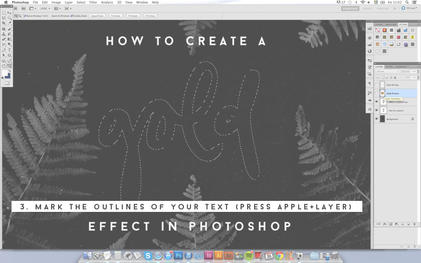 how to create peephole effect in photoshop