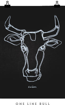 One_Line_Bull